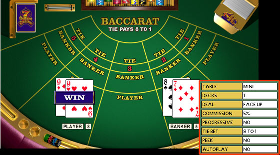 casino games baccarat