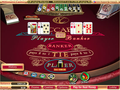 Live Baccarat Screenshot